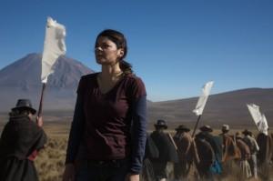 Vrouw in Altiplano