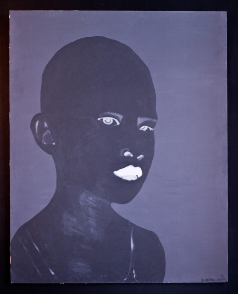 Werk van David Katshiunga, winnaar van de Artist Award 2015 - foto ©  Raf Degeest