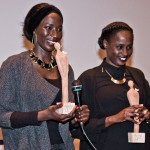 Aïcha Cissé en Aminata Demba, winnaars van de Artist Award van het Afrika Filmfestival 2016.  Foto © Raf Degeest