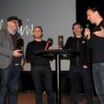 Bart Vanvoorden (van kunstencentrum Nona) interviewt de makers Carlo Dieltjens, Bob Maes en Philippe Cortens